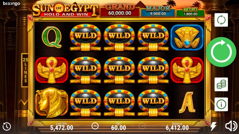 Sun of Egypt Hold and Win :: Multiple winning combinations lead to a big win