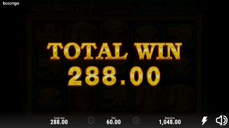 Sun of Egypt Hold and Win :: Total Free Spins Payout