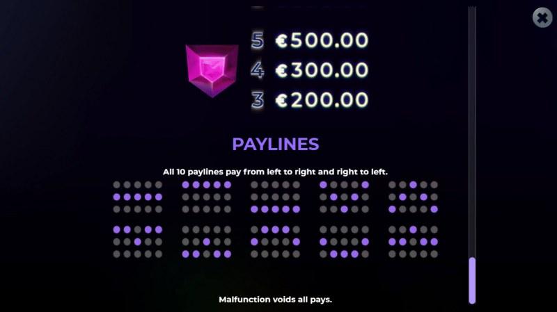 Suncatcher Gigablox :: Paylines 1-10