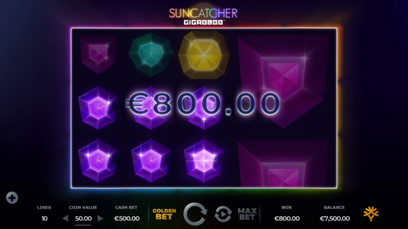 Suncatcher Gigablox :: A three of a kind win