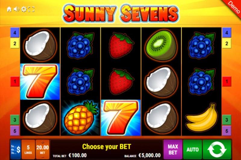 Sunny Sevens :: Main Game Board