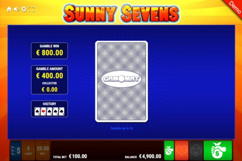 Sunny Sevens :: Red or Black Gamble Feature