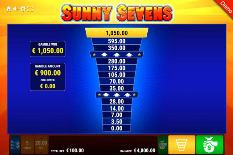 Sunny Sevens :: Ladder Gamble Feature