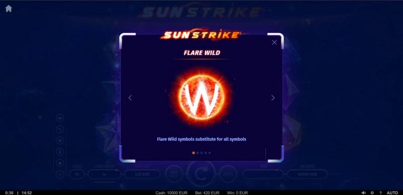 Sunstrike :: Wild Symbol Rules