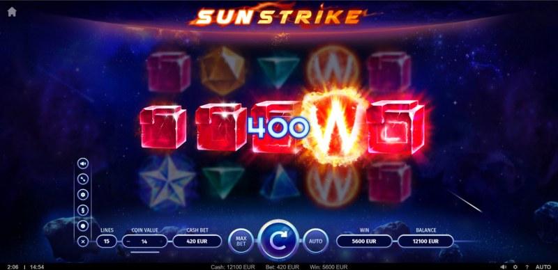 Sunstrike :: A five of a kind win