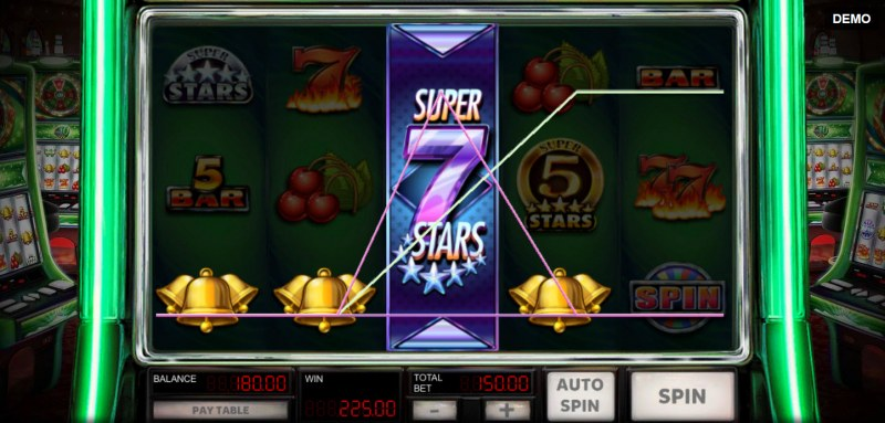 Super 10 Stars :: Respin feature leads to multiple winning paylines