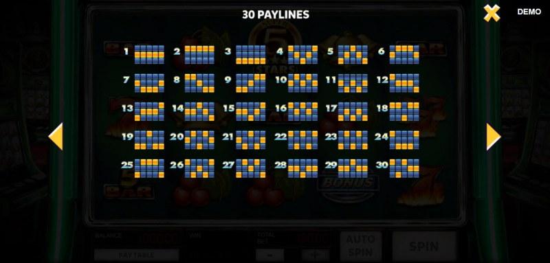 Super 10 Stars :: Paylines 1-30
