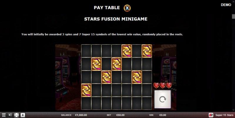 Super 15 Stars :: Star Fusion Minigame
