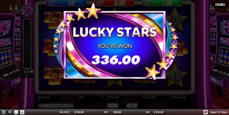 Super 15 Stars :: Total feature payout