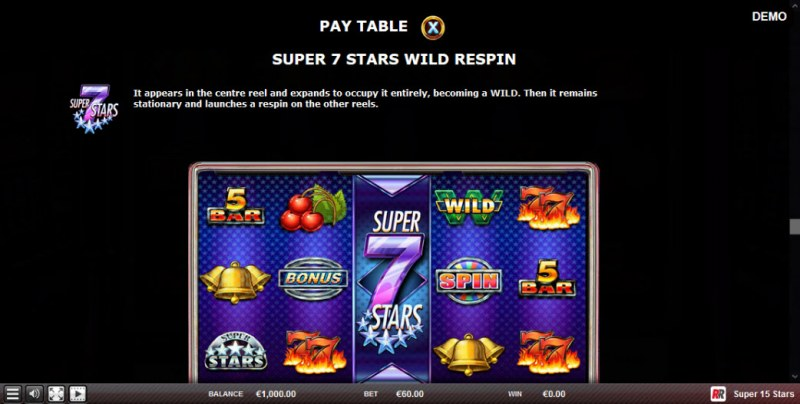 Super 15 Stars :: Super 7 Stars Wild Respin Feature