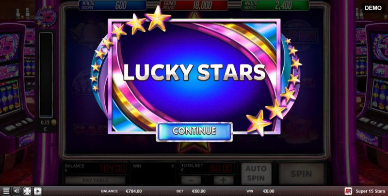 Super 15 Stars :: Lucky Stars feature activated