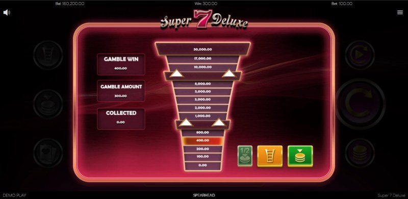 Super 7 Deluxe :: Ladder gamble feature