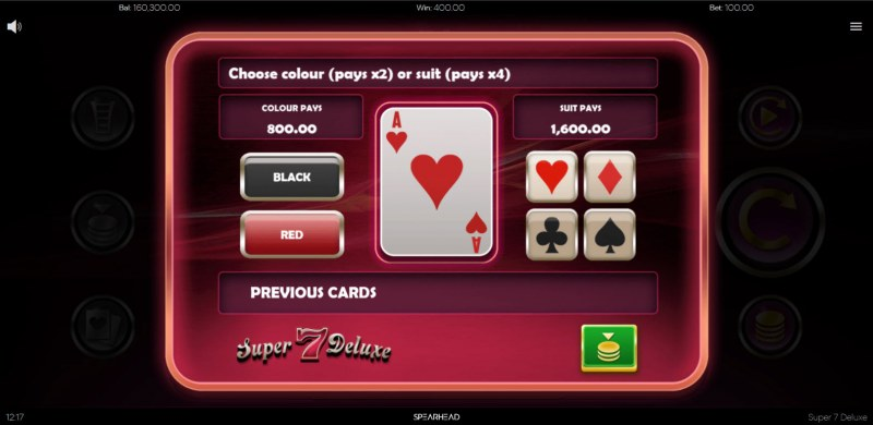 Super 7 Deluxe :: Gamble feature