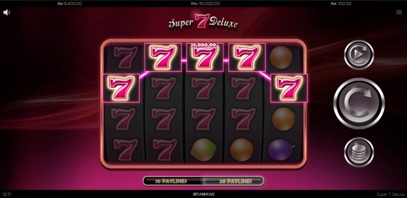 Super 7 Deluxe :: Multiple winning combinations lead to a big win