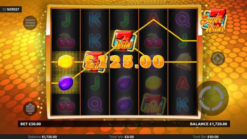 Super 7 Wilds :: Multiple winning paylines