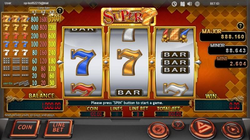 Super 7 :: Main Game Board