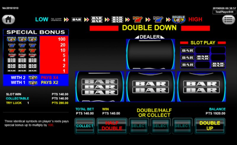 Super 8 Ways Ultimate :: Gamble Feature Game Board