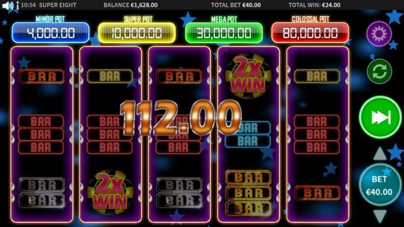 Super 8 :: Multiple winning paylines