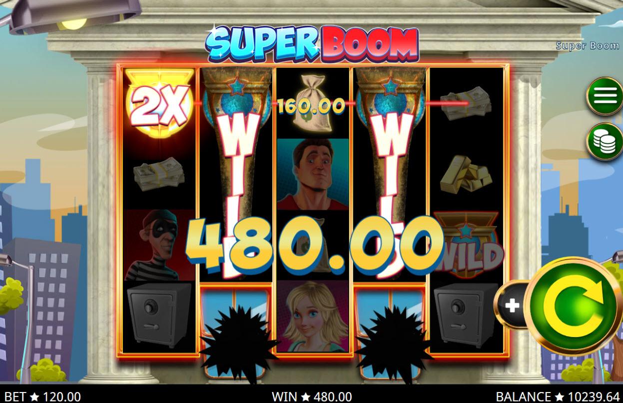 Play slots at Magik Slots: Magik Slots featuring the Video Slots Super Boom with a maximum payout of $144,000