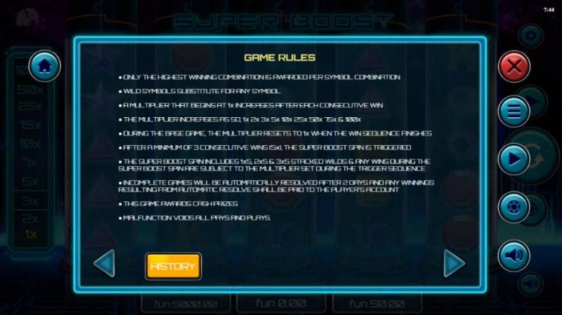 Super Boost :: General Game Rules