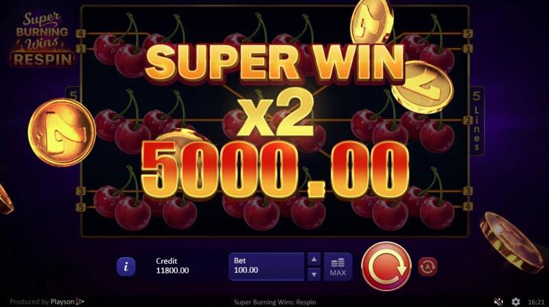 Super Burning Wins Respin :: Super Win