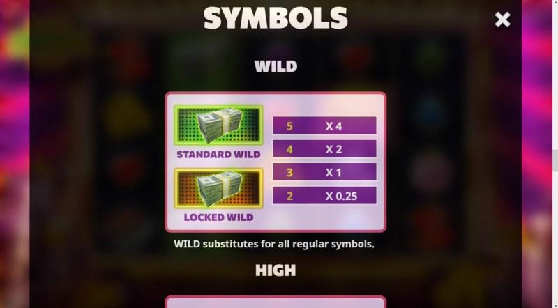 Super Cash Drop :: Wild Symbol Rules