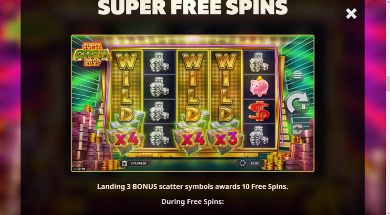 Super Cash Drop :: Free Game Rules