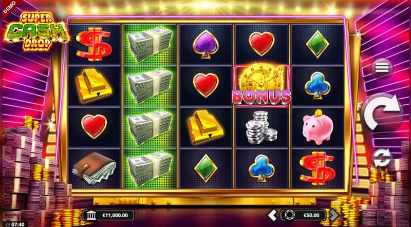 Super Cash Drop :: Main Game Board