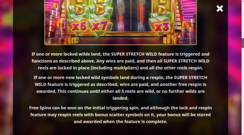 Super Cash Drop :: Feature Rules