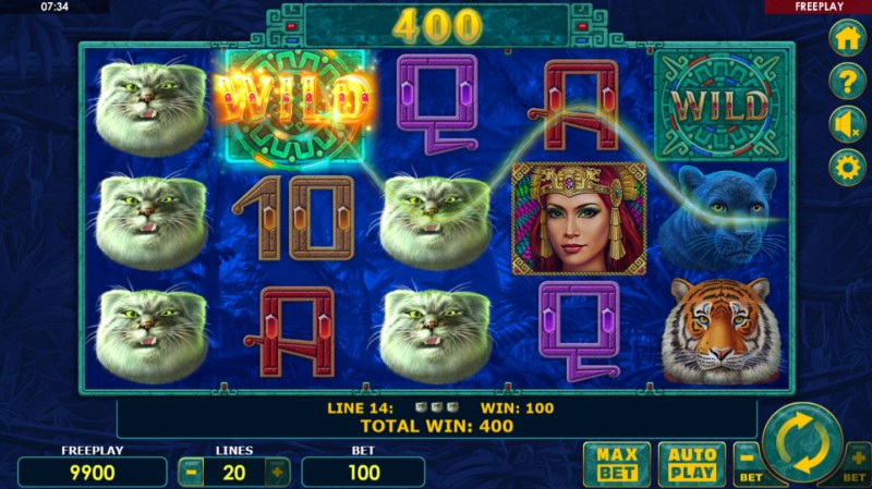 Super Cats :: Multiple winning paylines