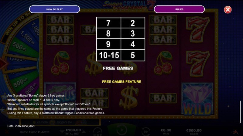 Super Crystal 7s Quick Spin :: Free Game Rules