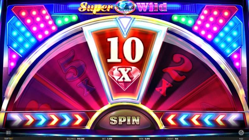 Super Diamond Wild :: Spin the wheel to win a bet multiplier