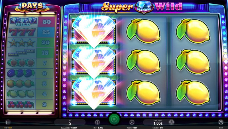 Super Diamond Wild :: Multiple winning combinations leads to a big win