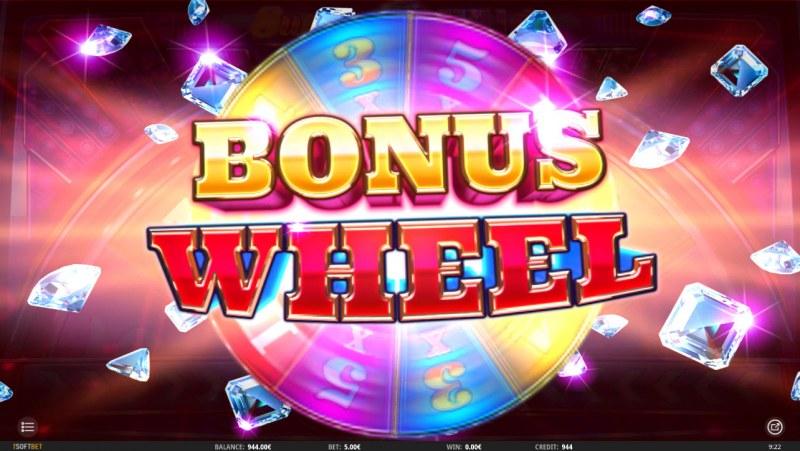 Super Diamond Wild :: Bonus Wheel triggered when landing same symbol on all reel positions
