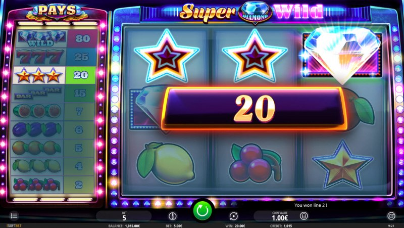 Super Diamond Wild :: Three of a kind