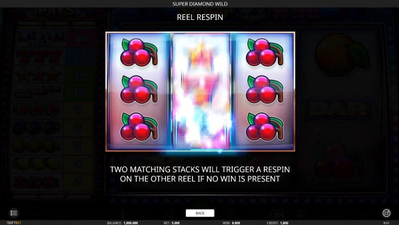 Super Diamond Wild :: Respin Rules