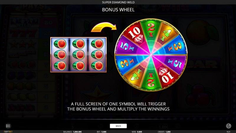 Super Diamond Wild :: Bonus Game Rules