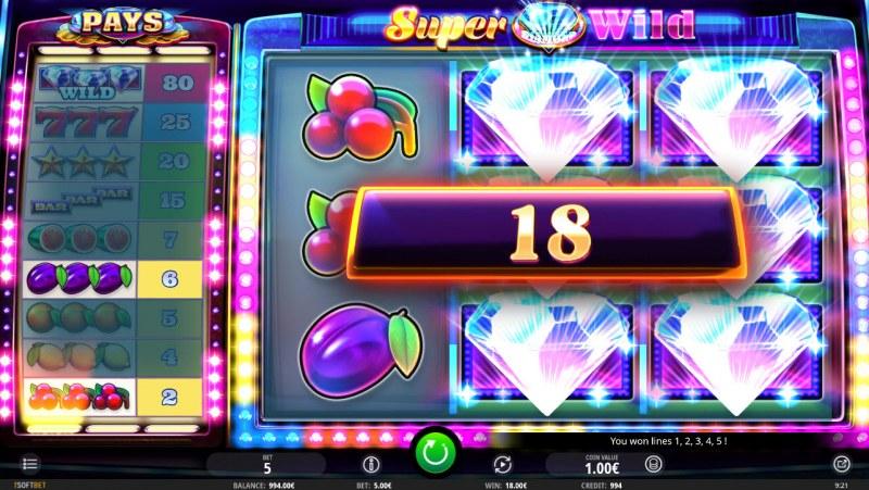 Super Diamond Wild :: Multiple winning combinations