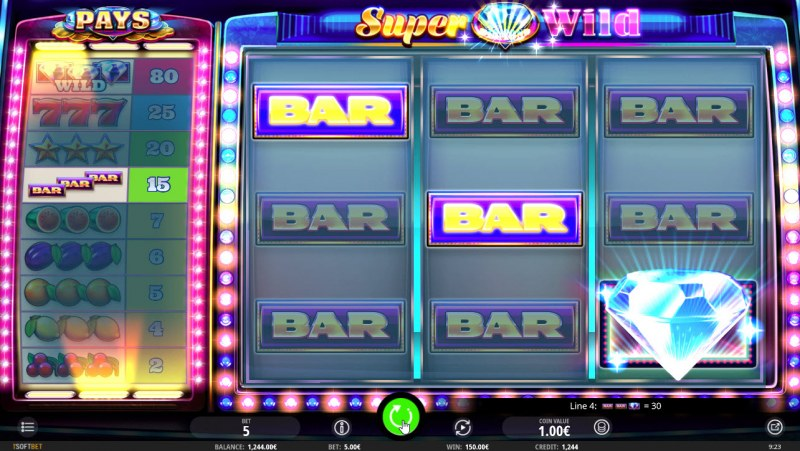 Super Diamond Wild :: Multiple winning combinations leads to another big win