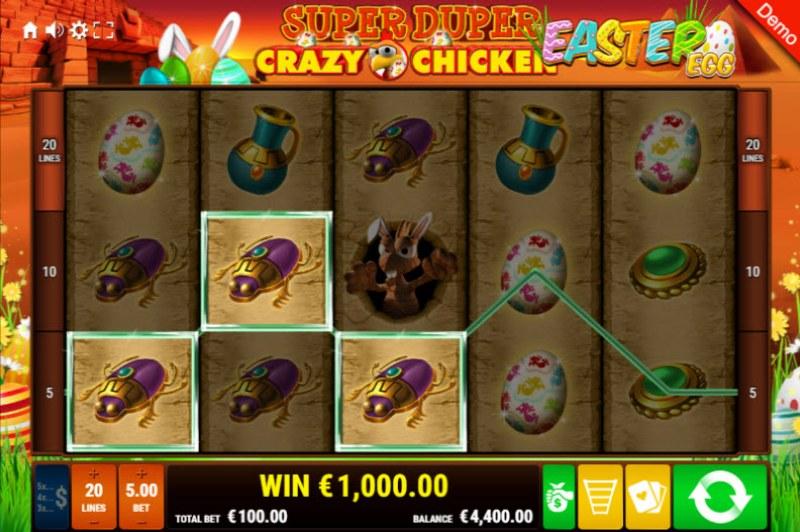Super Duper Crazy Chicken Easter Egg :: Multiple winning paylines