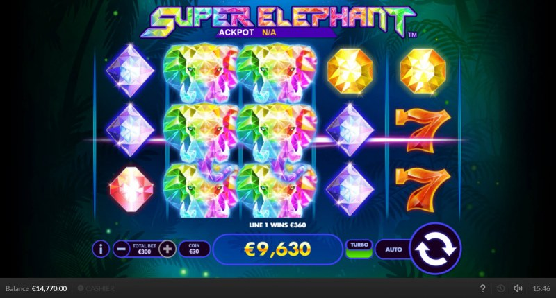 Super Elephant :: Multiple winning combinations lead to a big win
