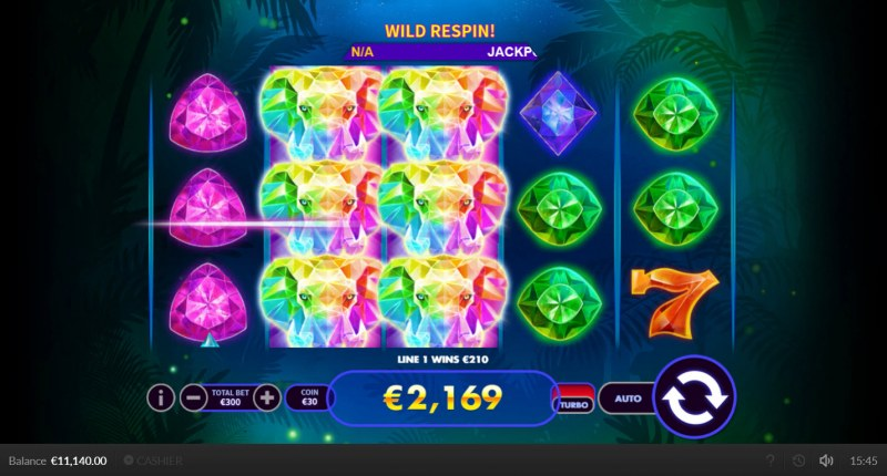 Super Elephant :: Respin triggers multiple winning paylines