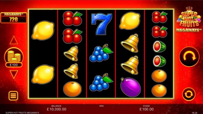 Super Hot Fruits Megaways :: Base Game Screen