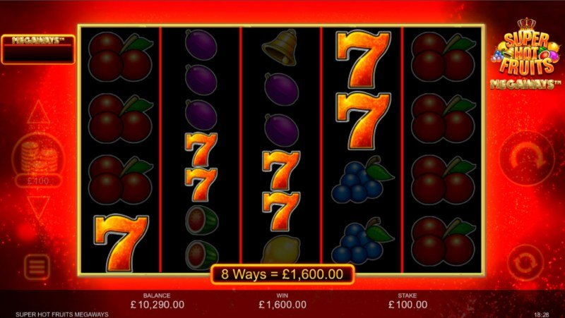 Super Hot Fruits Megaways :: Multiple winning combinations