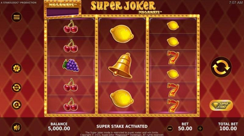 Super Joker Megaways :: Main Game Board