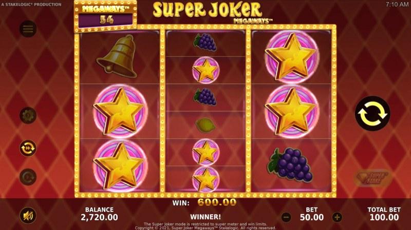 Super Joker Megaways :: Multiple winning ways