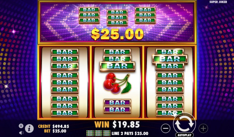 Super Joker :: Multiple winning paylines