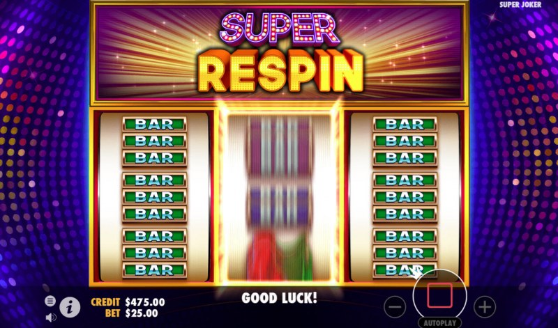 Super Joker :: Respin feature triggered