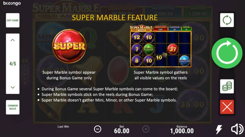 Super Marble Hold and Win :: Super Marble Feature