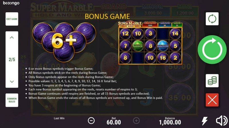 Super Marble Hold and Win :: Bonus Feature